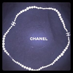 CHANEL Faux Pearl & Strass CC Necklace (c. 2011)